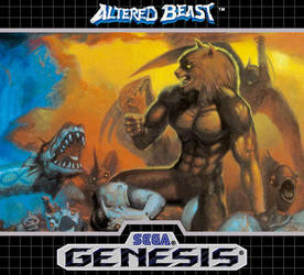 Altered Beast Sega Genesis Label