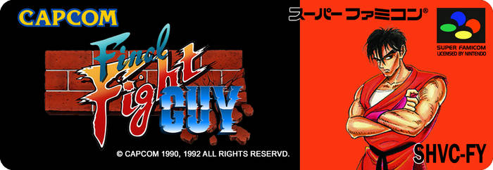 Final Fight GUY Japan Label Super Famicom