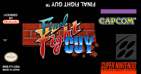 Final Fight GUY USA Label Super Nintendo