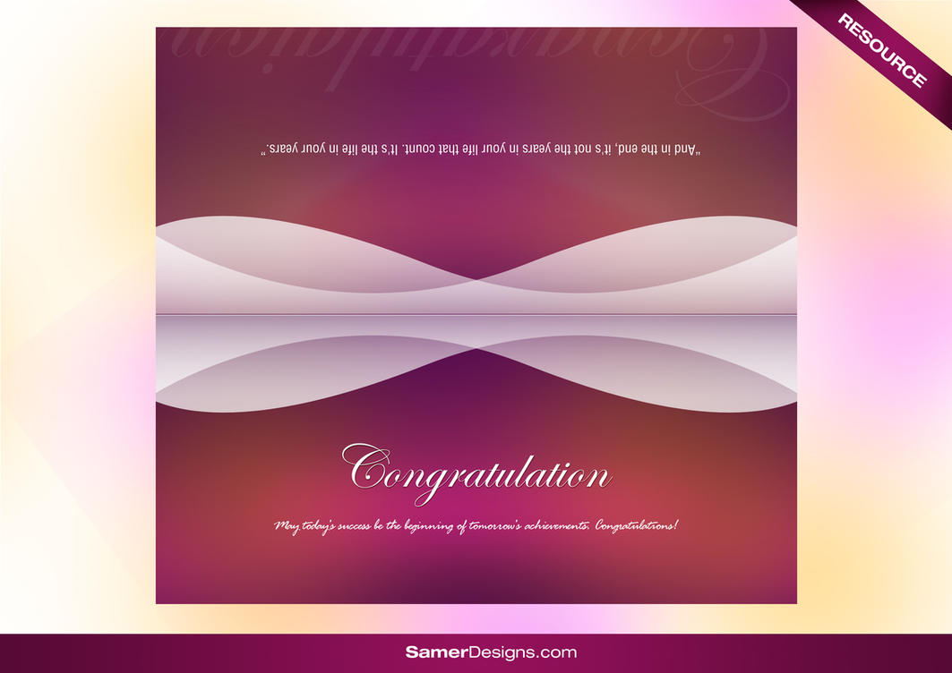 Greeting Card PSD by samerwagdyhalim on DeviantArt – Birthday Card Psd