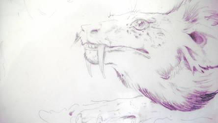 Elvish beasts - Model II - 'Saber tooth'