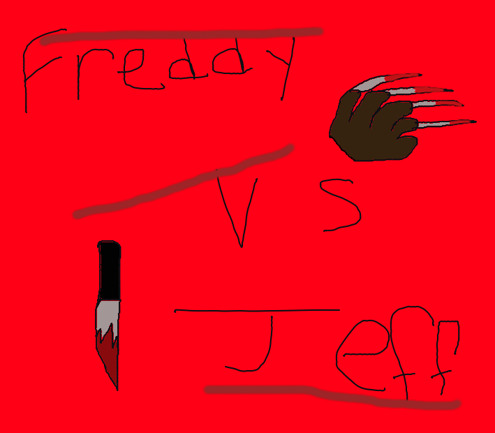 Freddy Krueger VS Jeff The Killer by Iluvmichaelmyers98Jeff The Killer Vs Freddy Krueger
