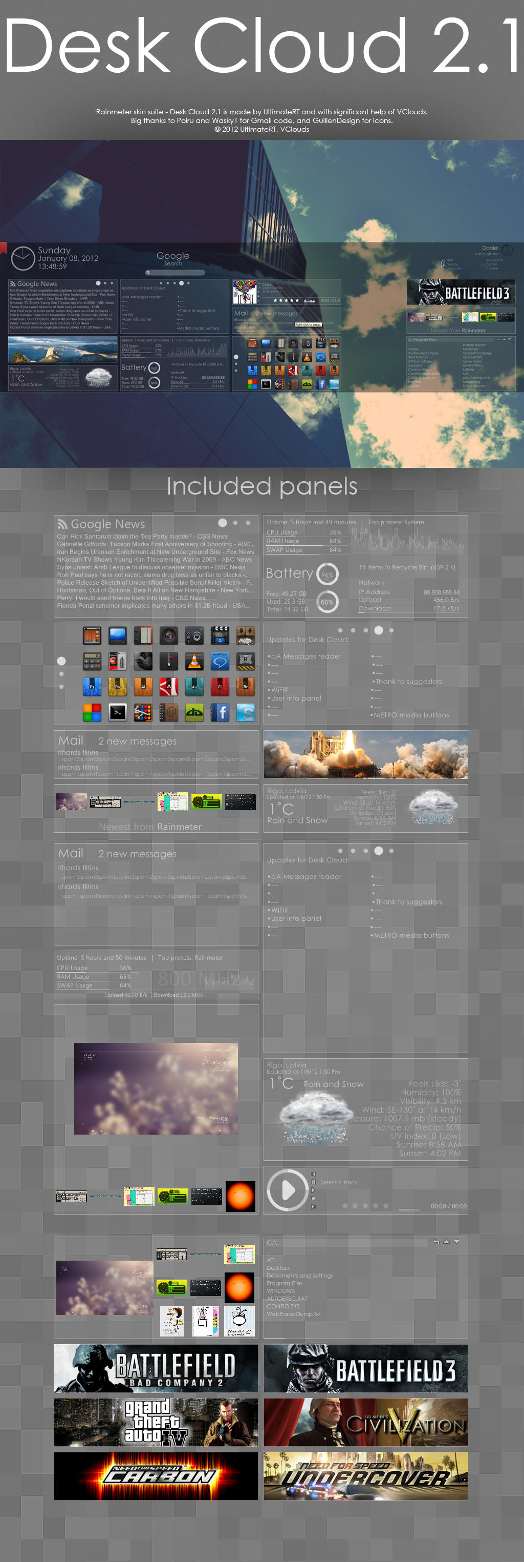 Desk Cloud 2.1 by UltimateRT