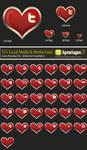 30 Valentine Icons - PSD