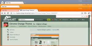 Chrome Orange Theme