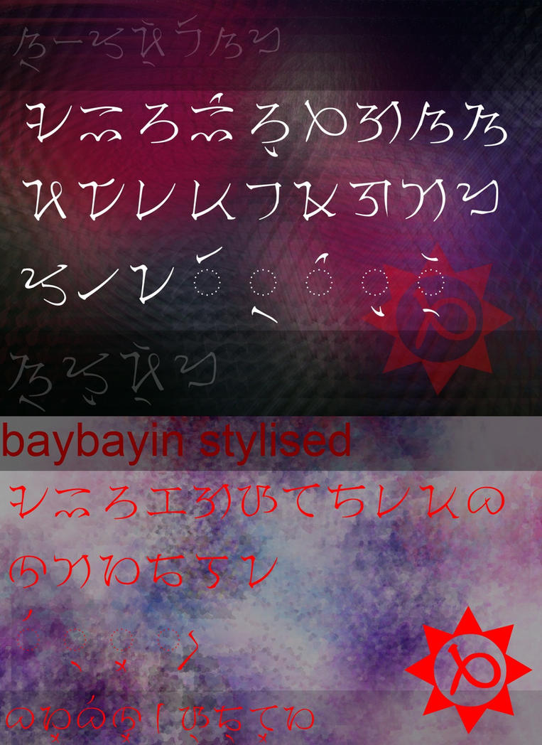 Baybayin Font Pack by ZUROU-Zurocha