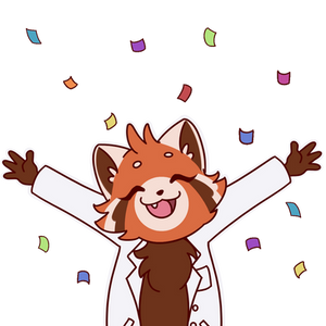 Confetti red panda Animation