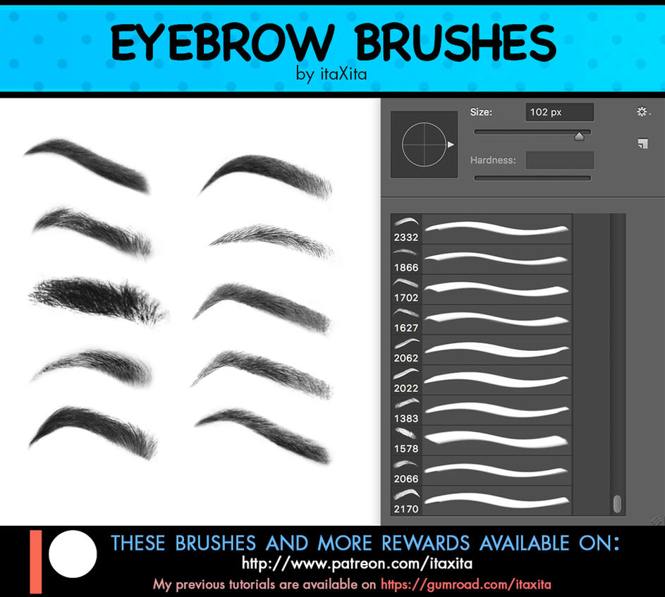 Eyebrow Brushes By Itaxita On Deviantart