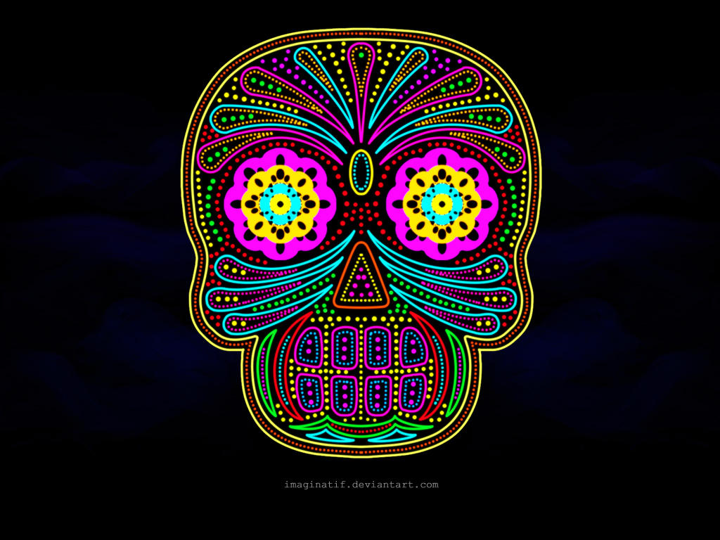 mexican skull - wallpaperi-maginatif on deviantart