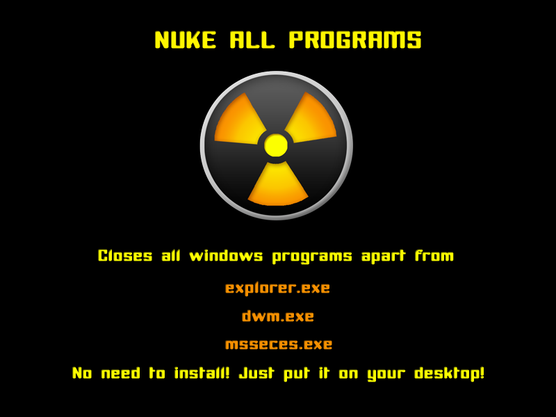 Nuke Programs - For Windows by skater-andy