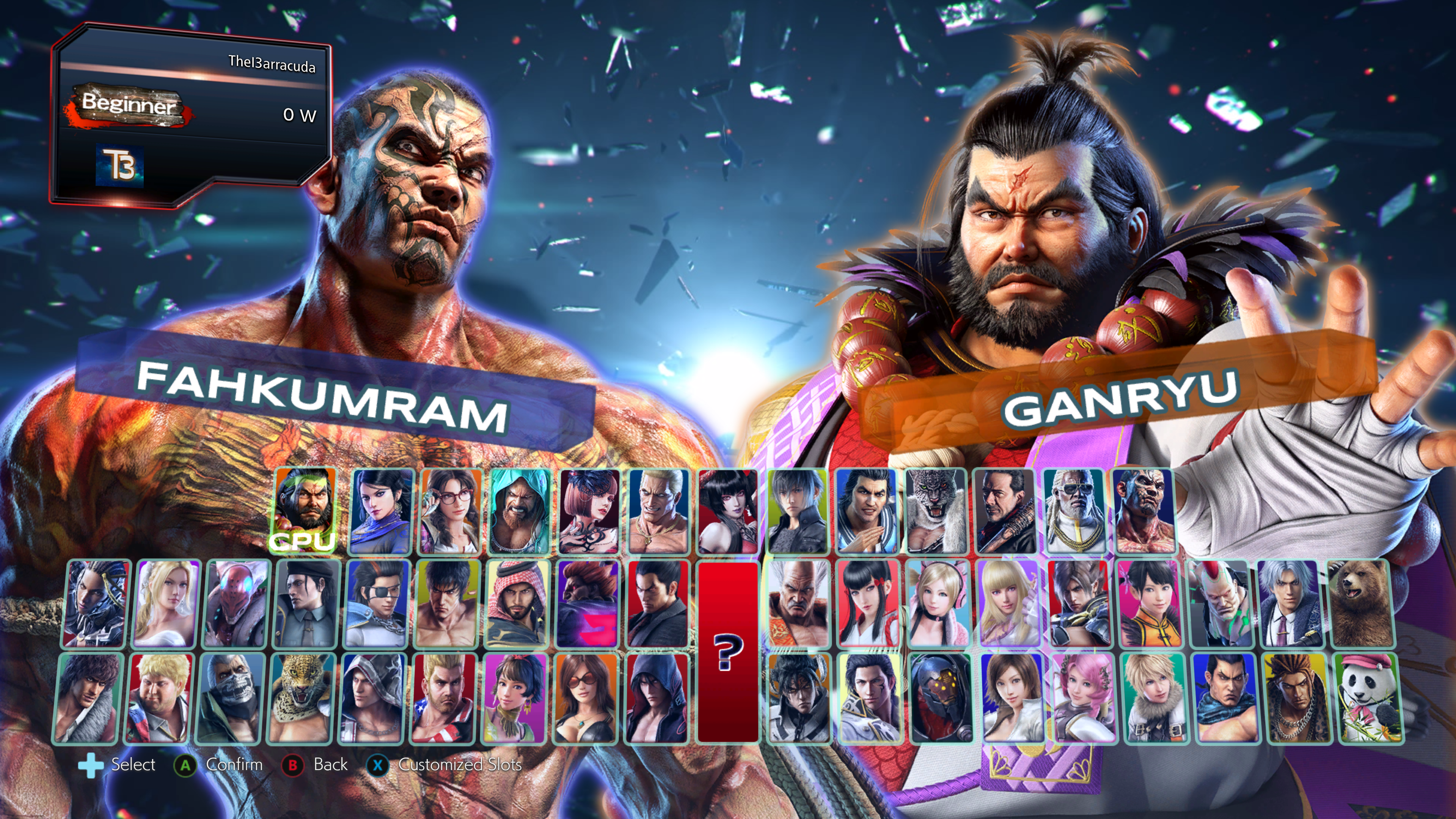 Tekken 4 Style Character Select By Thei3arracuda On Deviantart