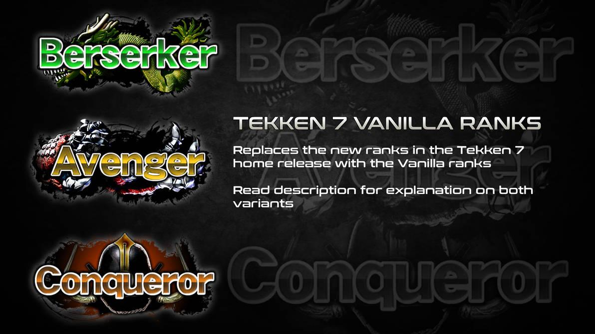 Tekken 7 Vanilla Ranks By Thei3arracuda On Deviantart
