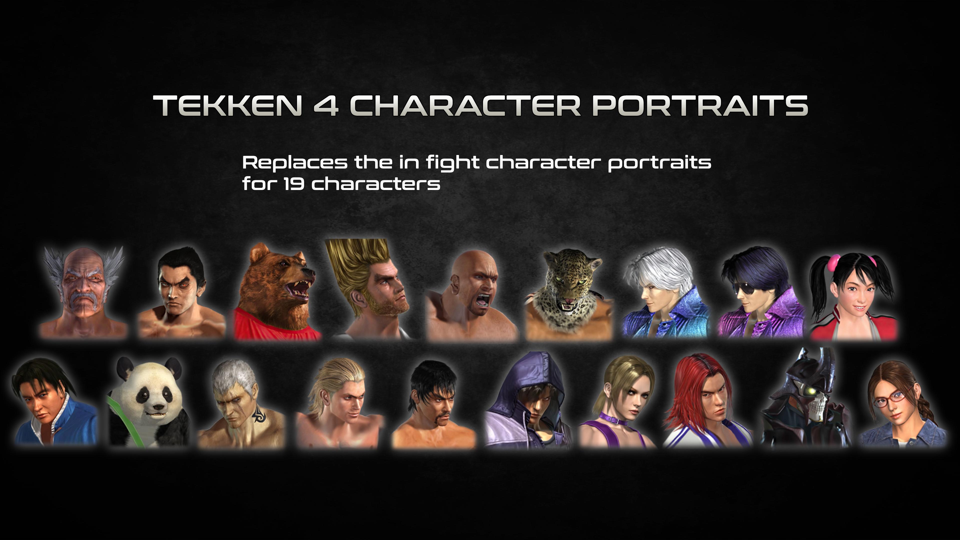 Tekken 4 Character Portraits By Thei3arracuda On Deviantart