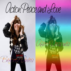 Action Peace and Love by Selenahollywood