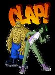 She-hulk and Thing CLAP! by KrzysztofMalecki