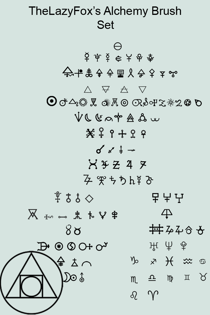 alchemy symbol brush set by thelazyfox on deviantart