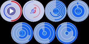 Round status gauges for rainmeter