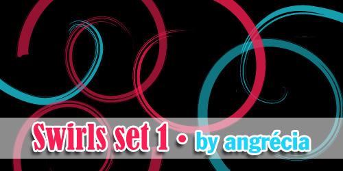 Swirls Brushes Set 01 by Angrecia