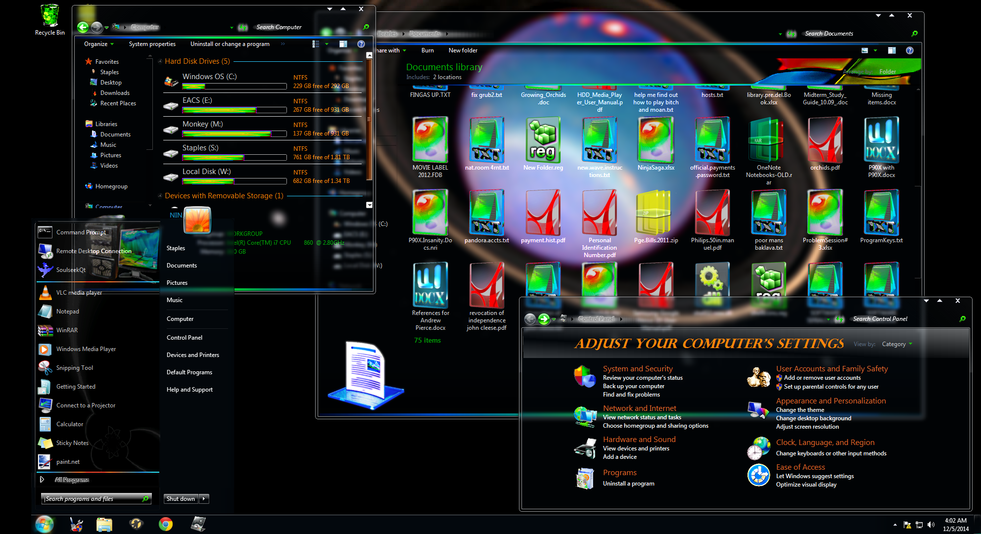 Windows 7 7 full transparency 64-bit THEME by KmCrct on DeviantArt