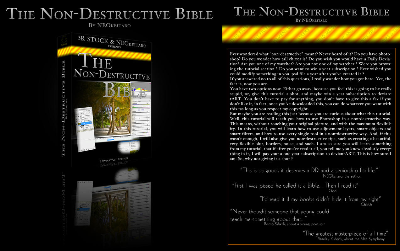The Non-Destructive Bible by NEOkeitaro