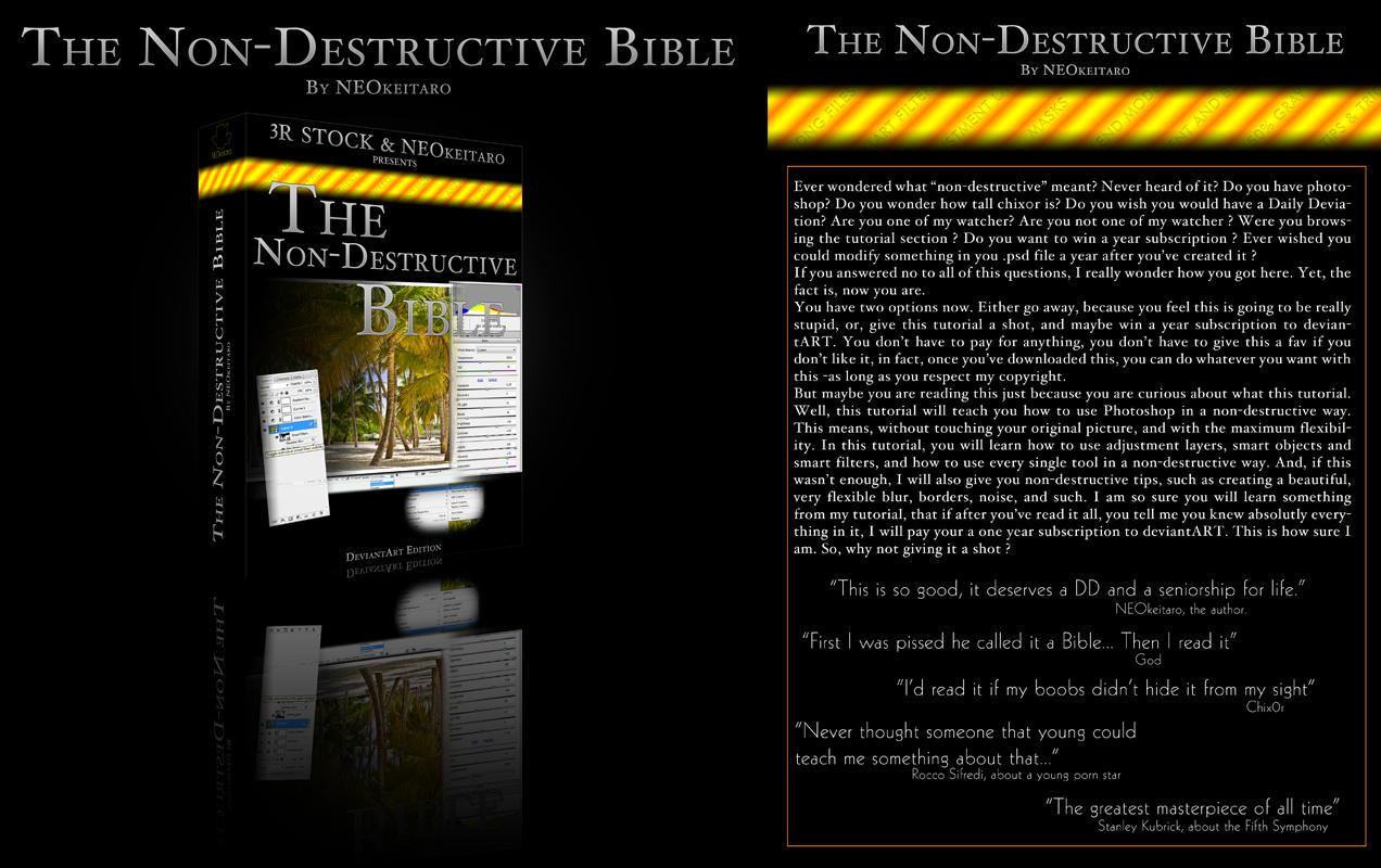 The Non-Destructive Bible by NEOkeitaro