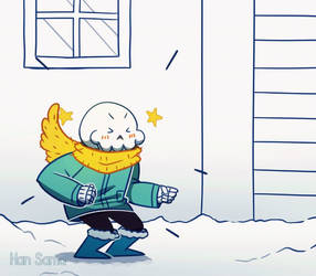 SANS! Let's build a snow fort!!! by Han--sama