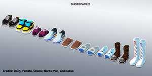 MMD shoes pack 2 update+DL