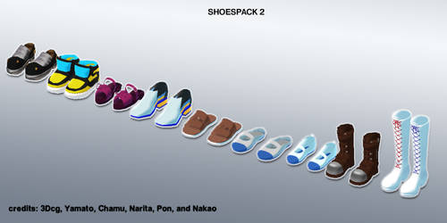 MMD shoes pack 2 update+DL by Fina-Nz
