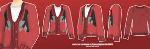 male red cardigan for MMD +DL by Fina-Nz