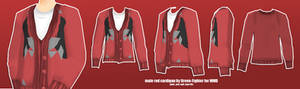 male red cardigan for MMD +DL