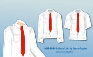 MMD Male Uniform Shirt+DL by Fina-Nz