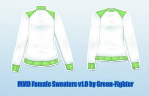 MMD Female Sweaters+DL by Fina-Nz