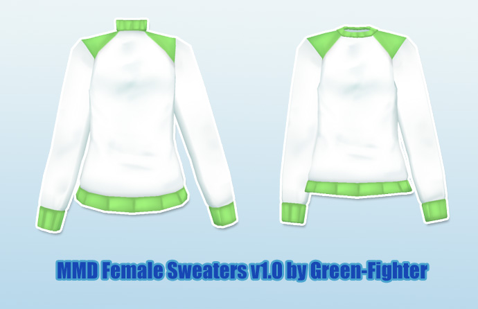 MMD Female Sweaters+DL by Green-Fighter