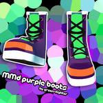 MMD Purple Boots+DL