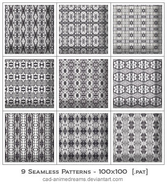 Seamless Photoshop Patterns by CAD-animedreams