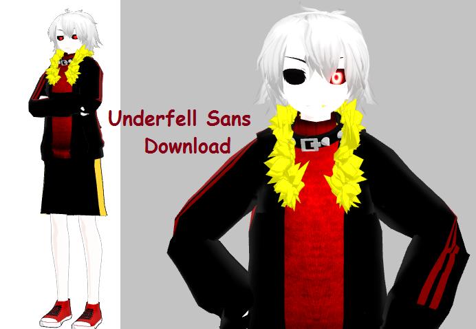 Underfell! Sans minecraft skin.