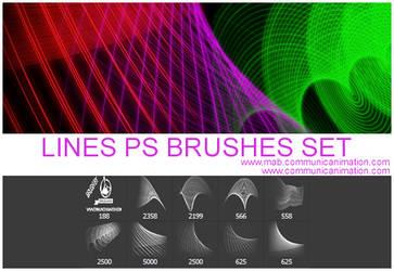 Lines Photoshop Brushes Set by CommunicAnimation