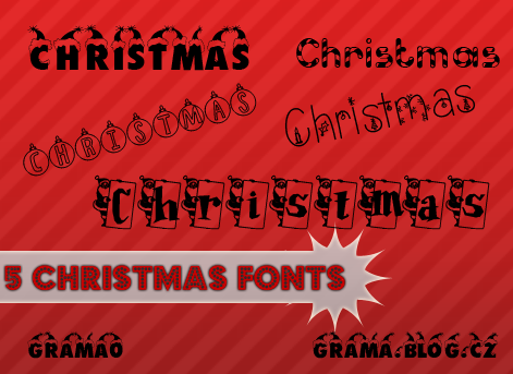 5 Christmas fonts by grama0