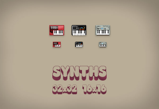 Synthesizer Icon set by ButteryFrog