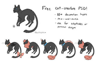 Catbeast - Free Adopt PSD Template by Adoptadpoles