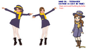 (MMD) - Teenager HatKid (A Hat in Time) DL