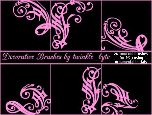 Decorative Brushes Set 2