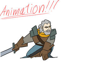 Geralt of Rivia  -  animation by gnomKOLIN
