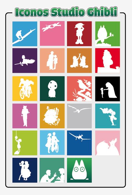 Studio Ghibli icons by StudioGhibliWeblog