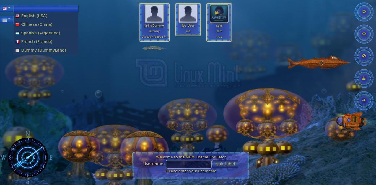 UnderwaterCity MDM Theme by samriggs