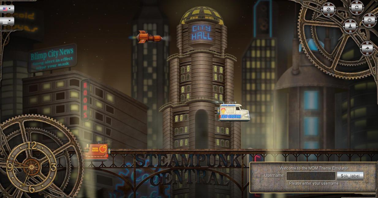 SteampunkFutureCity MDM Animated theme by samriggs