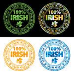 100 percent Irish stamps