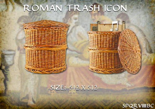 Roman Trash Icon (Mac OS X)