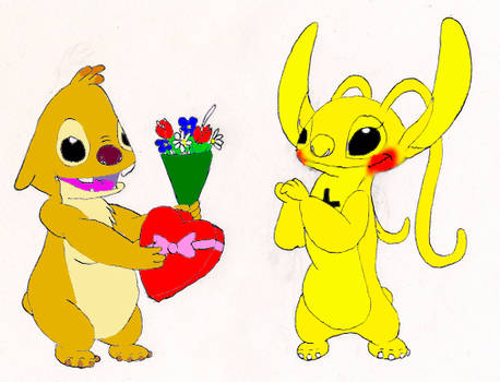 Stitch and Experiments A Valentine for Reuben