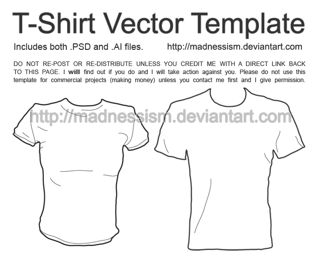 T Shirt Vector Template By Madnessism On Deviantart